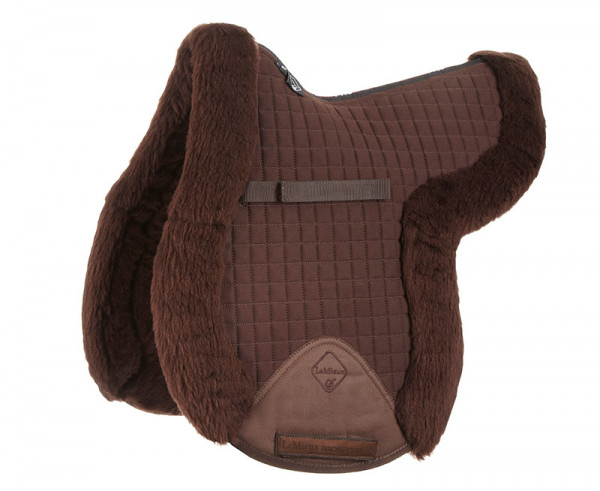 LeMieux Lambswool GP/Jumping Fully Lined Numnah Dark Brown Wool/Brown Fabric
