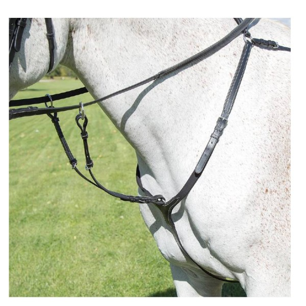 Shires Avignon Leather Breastplate 3 Point