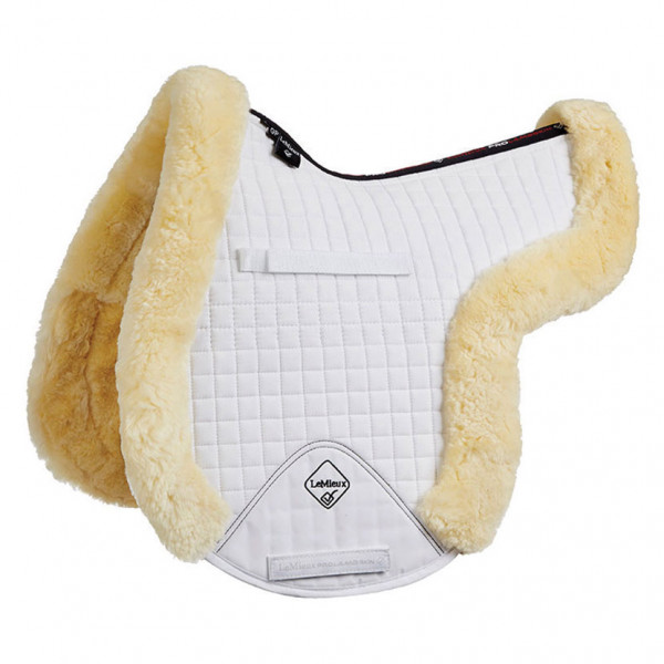 LeMieux Lambswool GP/Jumping Fully Lined Numnah Natural Wool/White Fabric