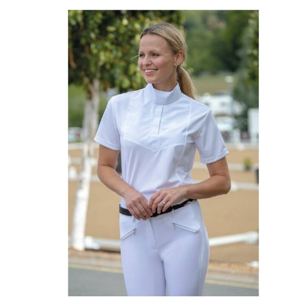 Shires Ladies Aubrion Short Sleeve Stock Shirt White