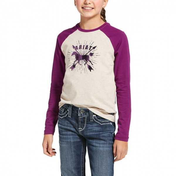 Ariat Youth Dash Logo T-Shirt Oatmeal