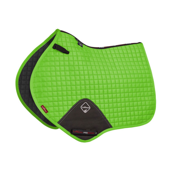 LeMieux ProSport Suede Close Contact Square (D-Ring) Lime