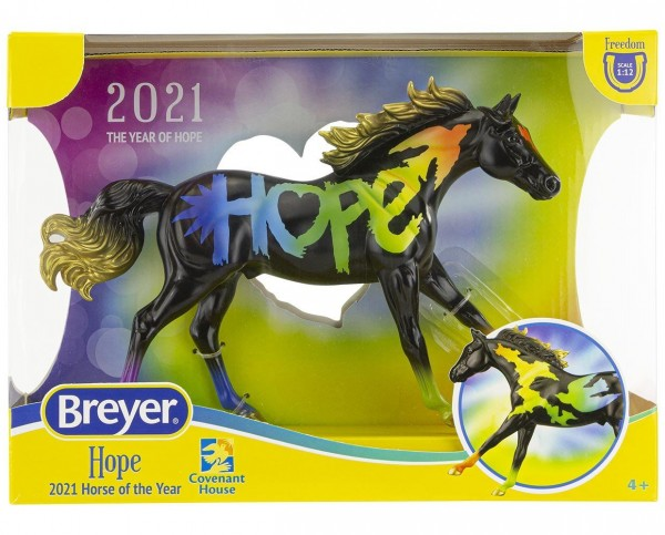 """Breyer """"HOPE"""" Horse of the year 2021 Toy Model"""