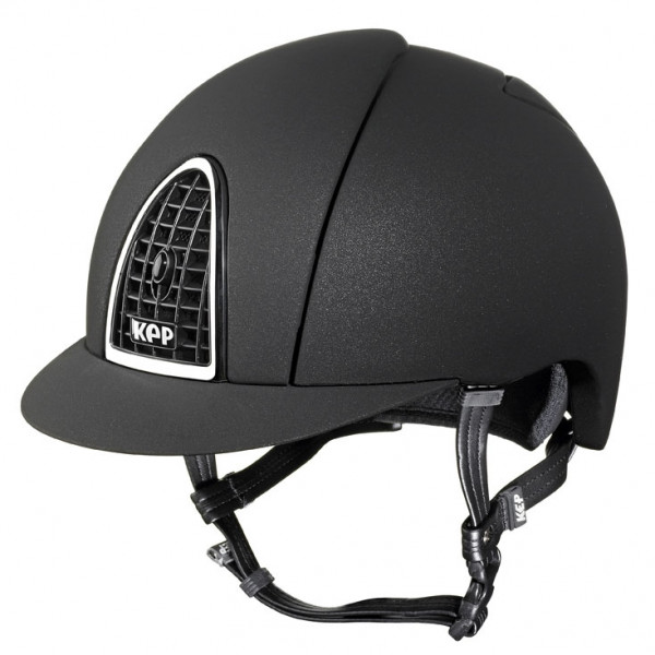 KEP Cromo Mica Riding Hat in Black With Black Grid Size 56cm-62cm