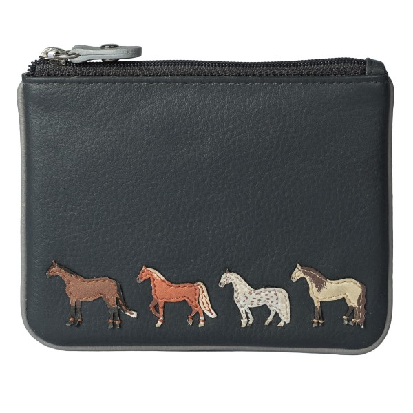 Mala Leather Best Friends Horses Coin Purse