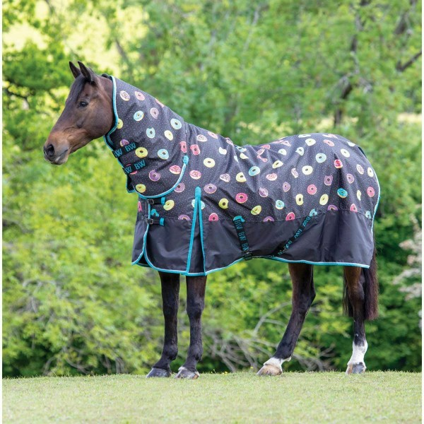 Bridleway Ontario Medium Combo Turnout Rug Grey Doughnut