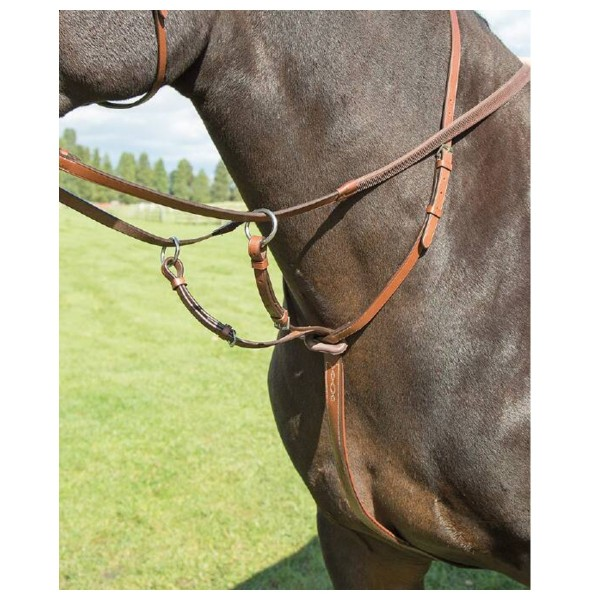 Shires Avignon Leather Running Martingale