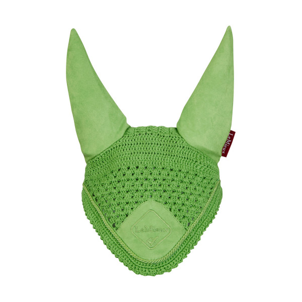 LeMieux Signature Fly Hoods Lime/Lime Braid