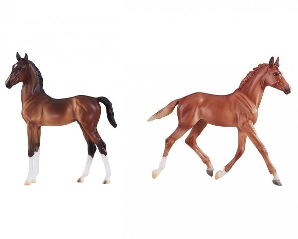 Breyer Thoroughbred and Hackney Horse Foals Toy Model