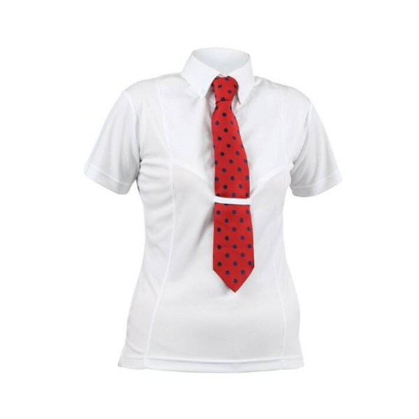 Shires Ladies Aubrion Short Sleeve Tie Shirt White