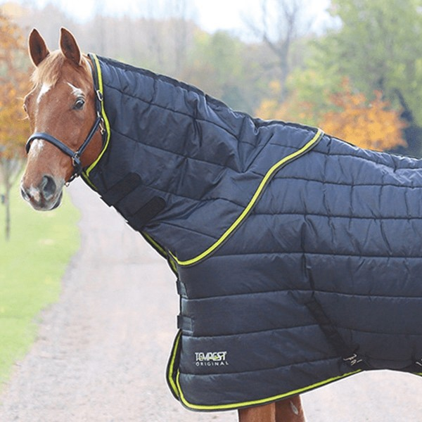 Shires Tempest Original 300 Stable Rug & Neck Set Black/Lime