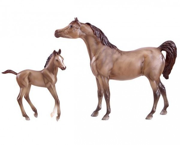 Breyer Grey Arabian Classic Mare and Foal Toy Set