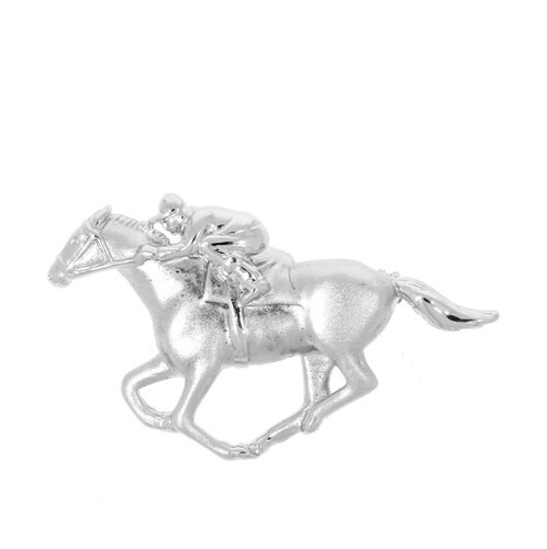 Falabella SP04 Racehorse and Rider Brooch