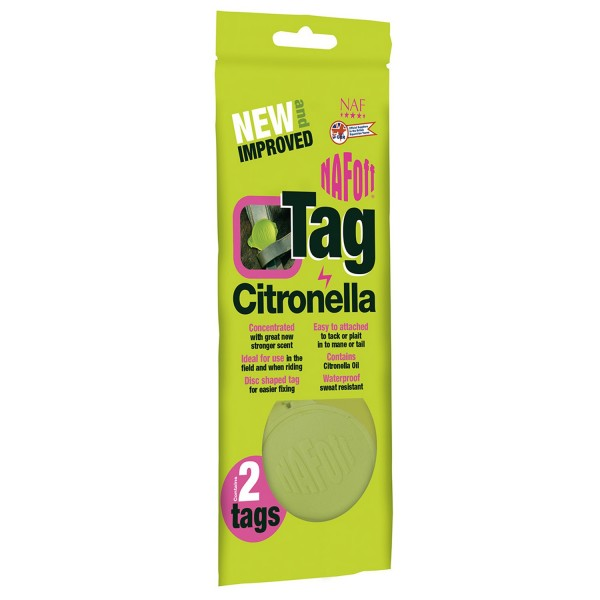 NAF OFF Citronella Tag - Twin Pack