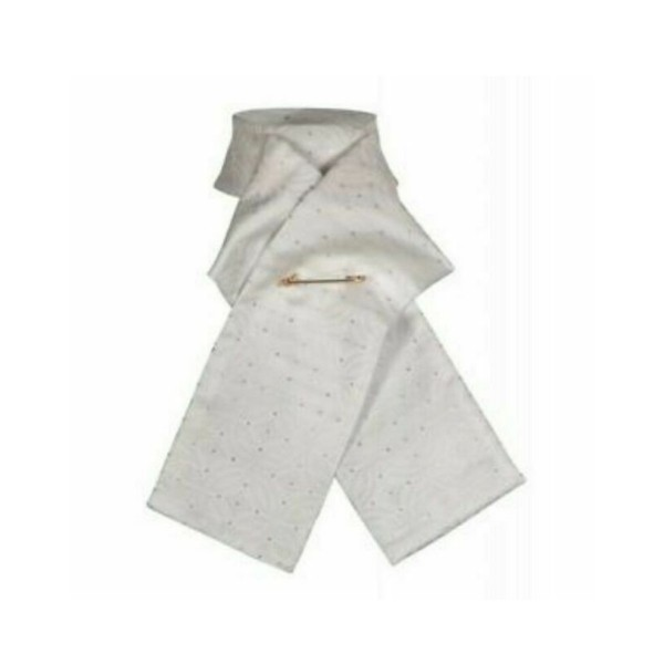 Shires Untied Brocade Riding Stock White
