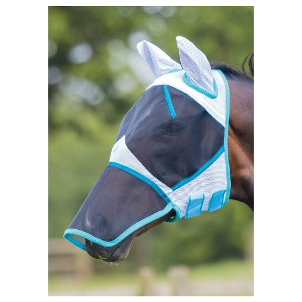 Bridleway Bug Stoppa Fly Mask With Nose Cob V066