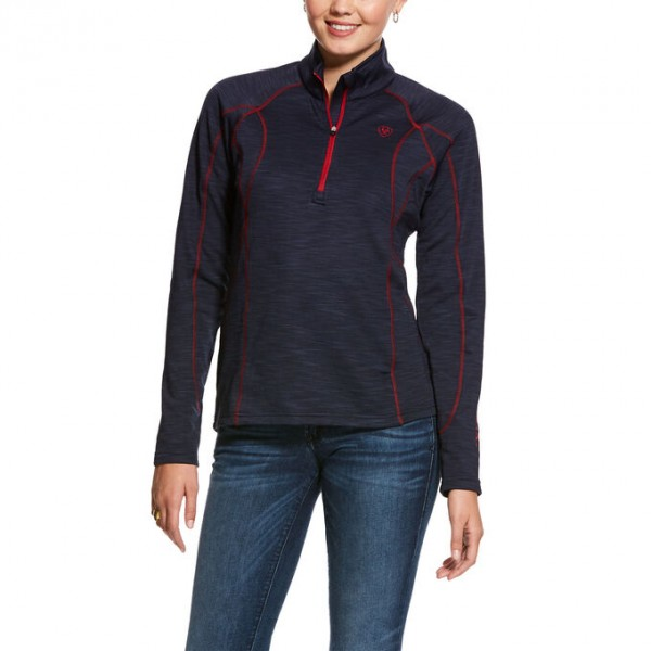 Ariat Womens Conquest 2.0 1/2 Zip Sweatshirt Navy