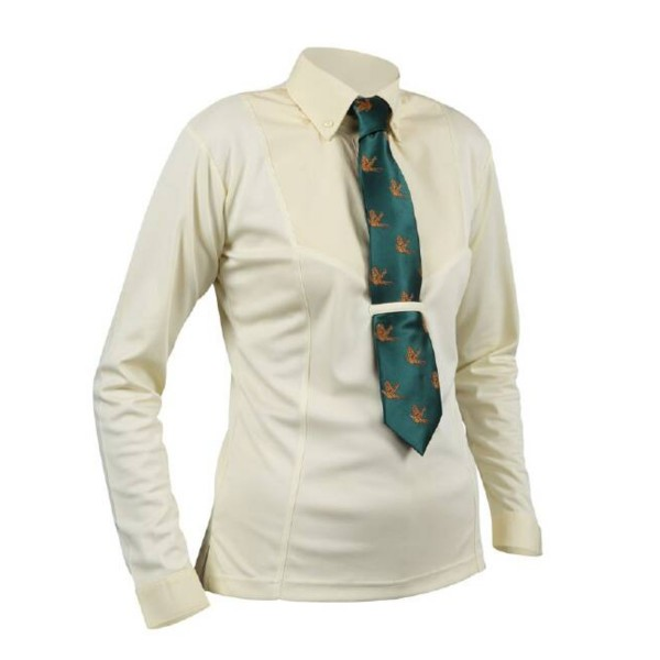 Shires Ladies Aubrion Long Sleeve Tie Shirt Yellow