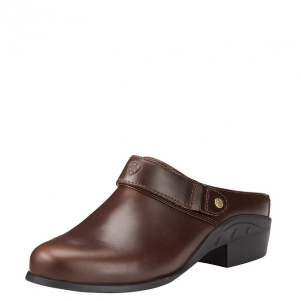Ariat Womens Sports Mule Waxed Chocolate