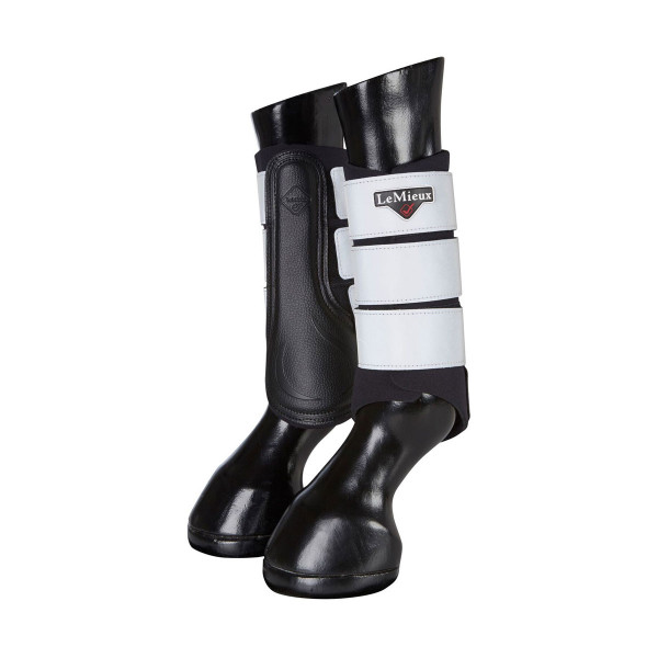 LeMieux High Visibility Grafter Brushing Boots Black
