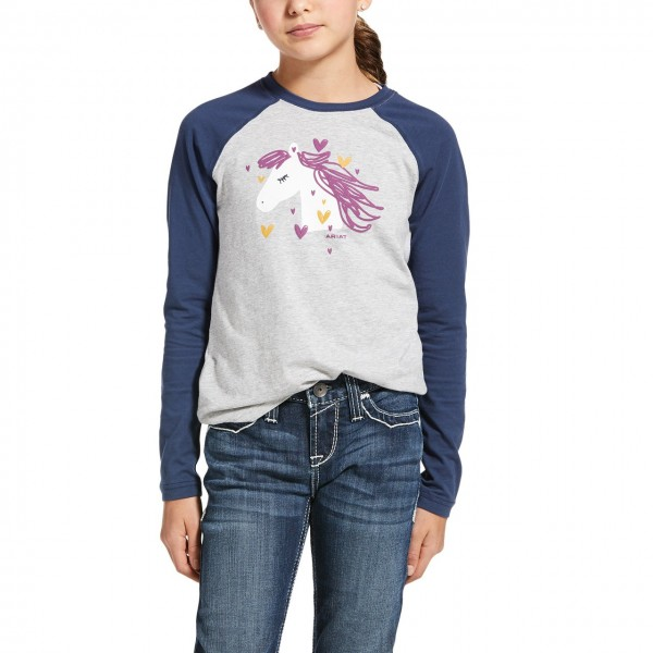 Ariat Youth My Love T-Shirt Heather Grey