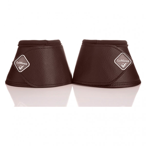 LeMieux Leather Wrap Round Over Reach Boots Brown