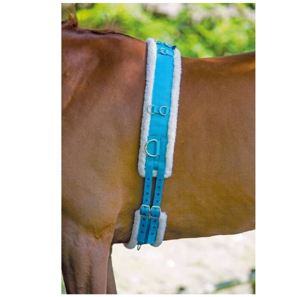 Shires Nylon Roller With Fleece Padding Blue