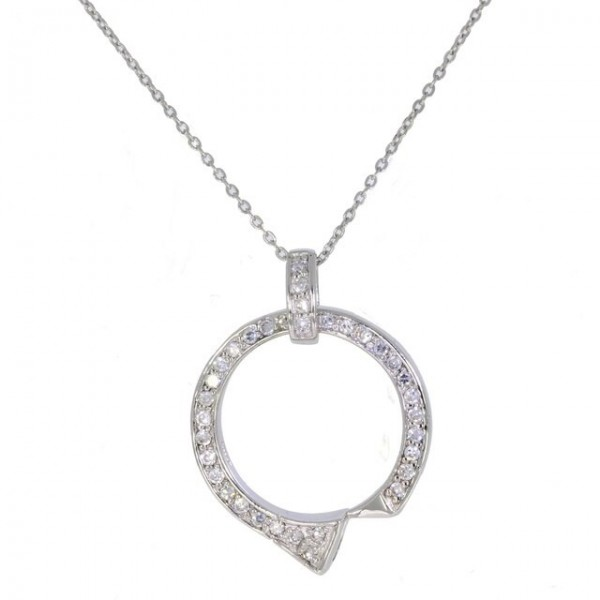 Falabella Farriers Nail and Crystal Pendant