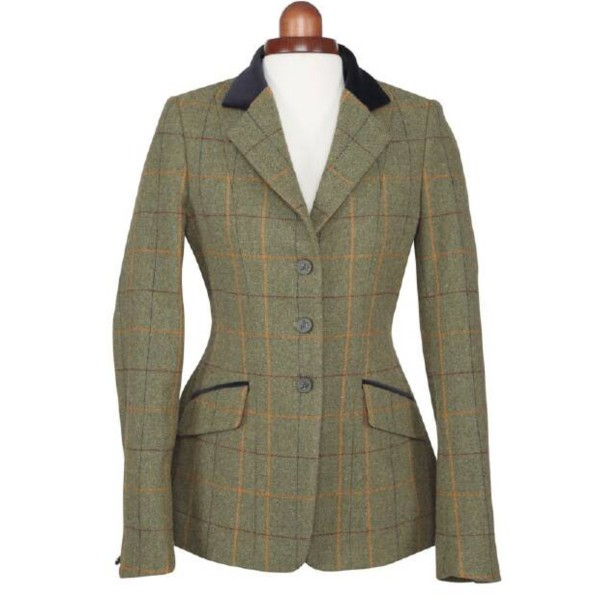 Shires Ladies Aubrion Saratoga Jacket Red/Yellow/Blue Check