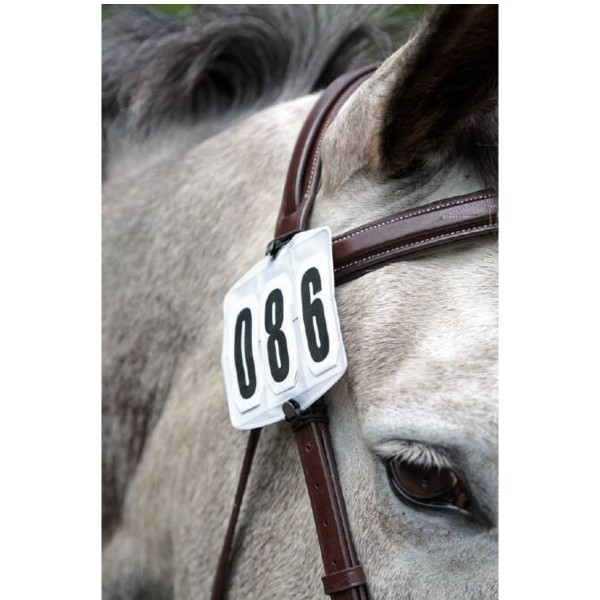 Shires Bridle Competition Number Kit White