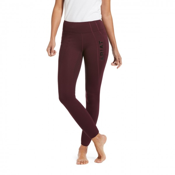 Ariat Womens Attain Full Seat Thermal Riding Tights Wine Tasting