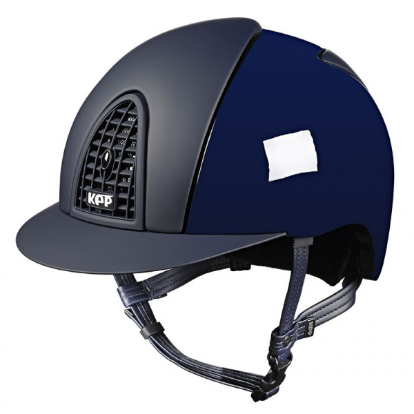 KEP Cromo Polish Blue Riding Hat With Textile Grid, Inserts & Visor Size 51cm-55cm