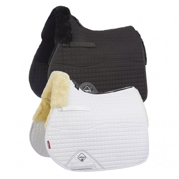 LeMieux Lambswool GP/Jumping Square Half Lined Natural Wool/White Fabric