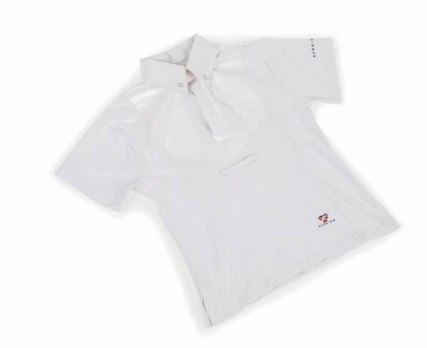 Shires Aubrion Childs Short Sleeve Tie Shirt