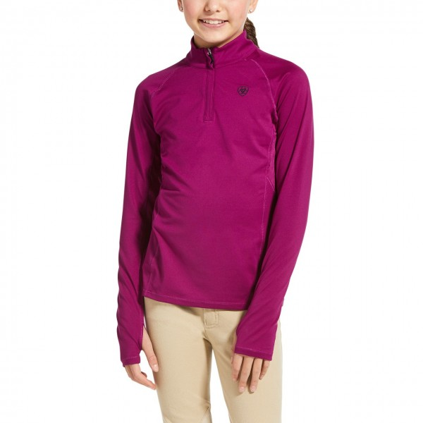 Ariat Youth Lowell 2.0 1/4 Zip Baselyer Imperial Violet