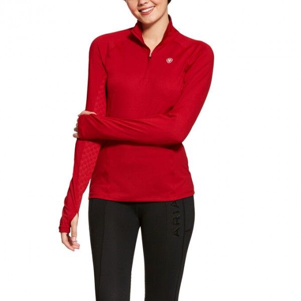 Ariat Womens Lowell 1/4 Baselayer Laylow Red